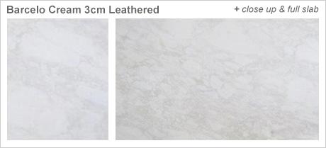 Barcelo Cream 3cm Leathered