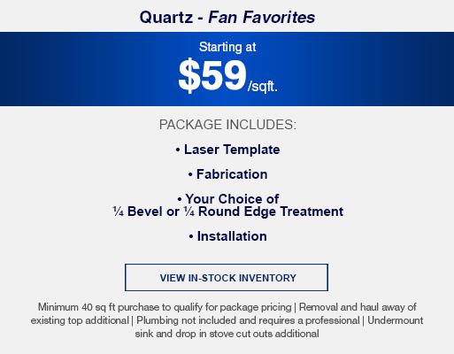 Granite and quartz package fan favorites