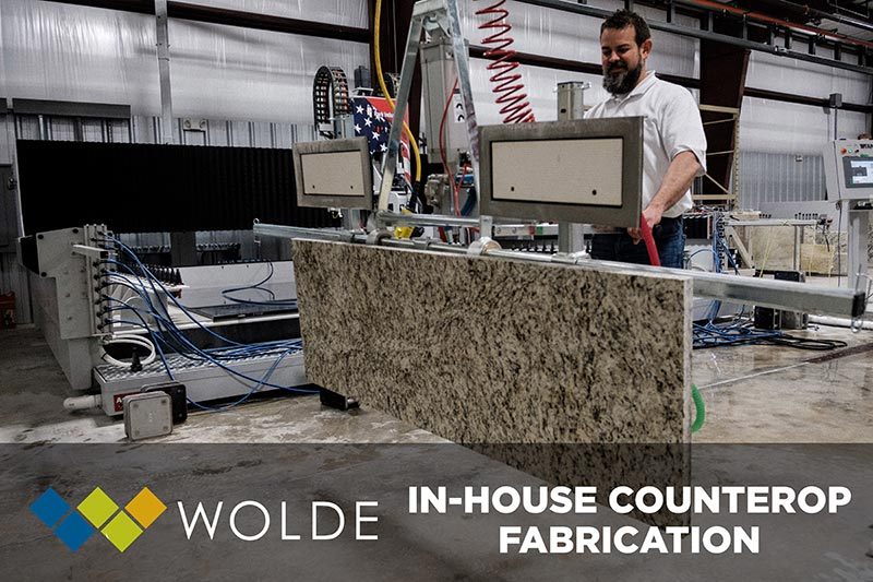 Wolde Flooring offers expert in-house countertop fabrication.  Come speak to our professional team today for a quote!